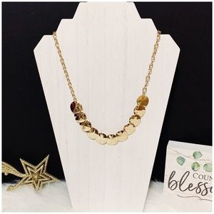 Jewelry - Goldtone Round Medallion Choker Necklace